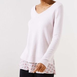 Ann Taylor Loft Light Pink Sweater Size 10